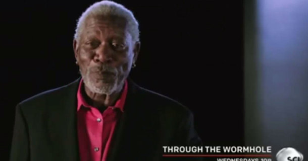 Can You Imagine Morgan Freeman Talking On Helium?  Here's The Goods.
